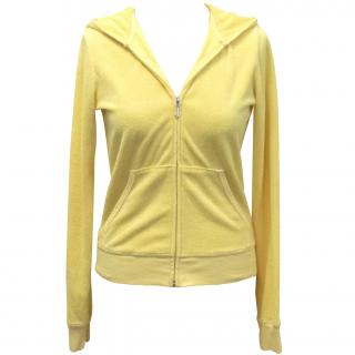Juicy Couture yellow towelling hooded jacket