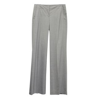 New Theory grey wide leg suit trousers