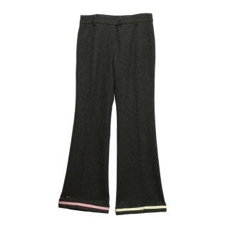 Moschino Dark Grey Wool Pants/Trousers