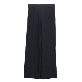 Bamford linen wide leg trousers
