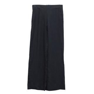 Bamford linen wide leg trousers