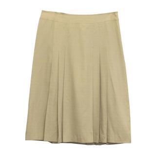MaxMara beige pleated skirt
