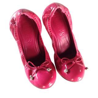 Alexander McQueen pink patent heels