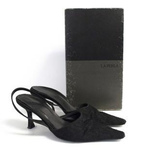 La Perla lace sandals