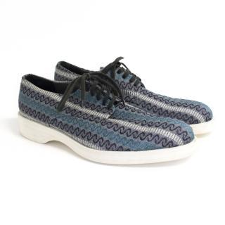 ZZegna blue zig zag shoes