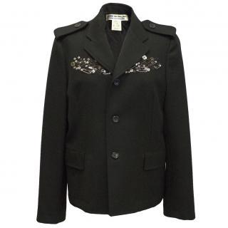 Commes des Garçons black embellished blazer