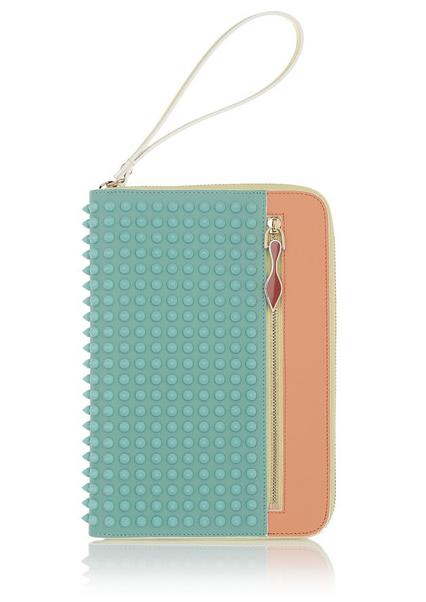 Christian Louboutin Cris studded leather iPad Mini case