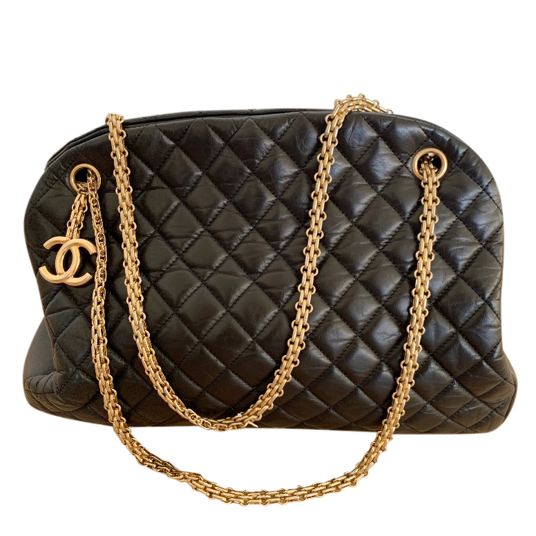 Chanel Black Quilted Leather Mademoiselle Tote Bag