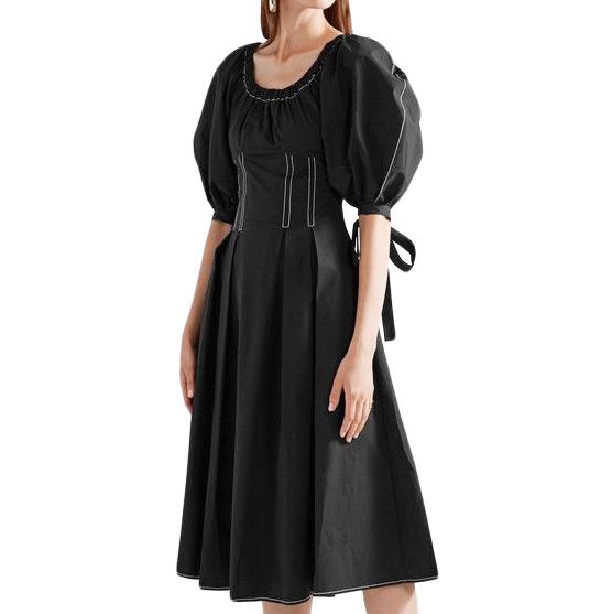 Rejina Pyo Black Cotton Greta Dress