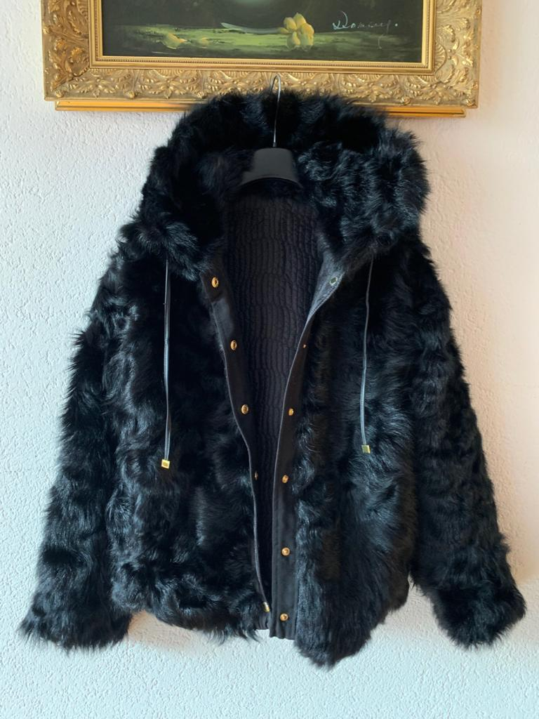 Trussardi Reversible Goat Fur Jacket