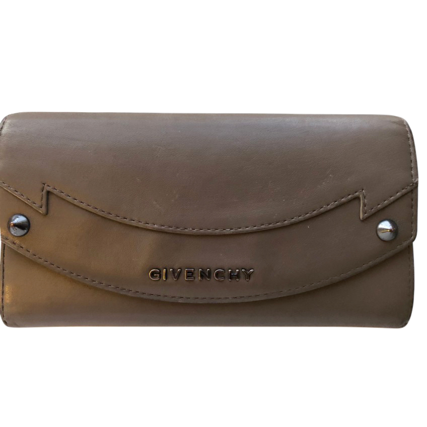 Givenchy Taupe Leather Wallet