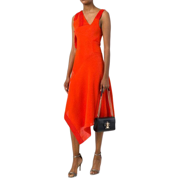Victoria Beckham Red Asymmetric Dress