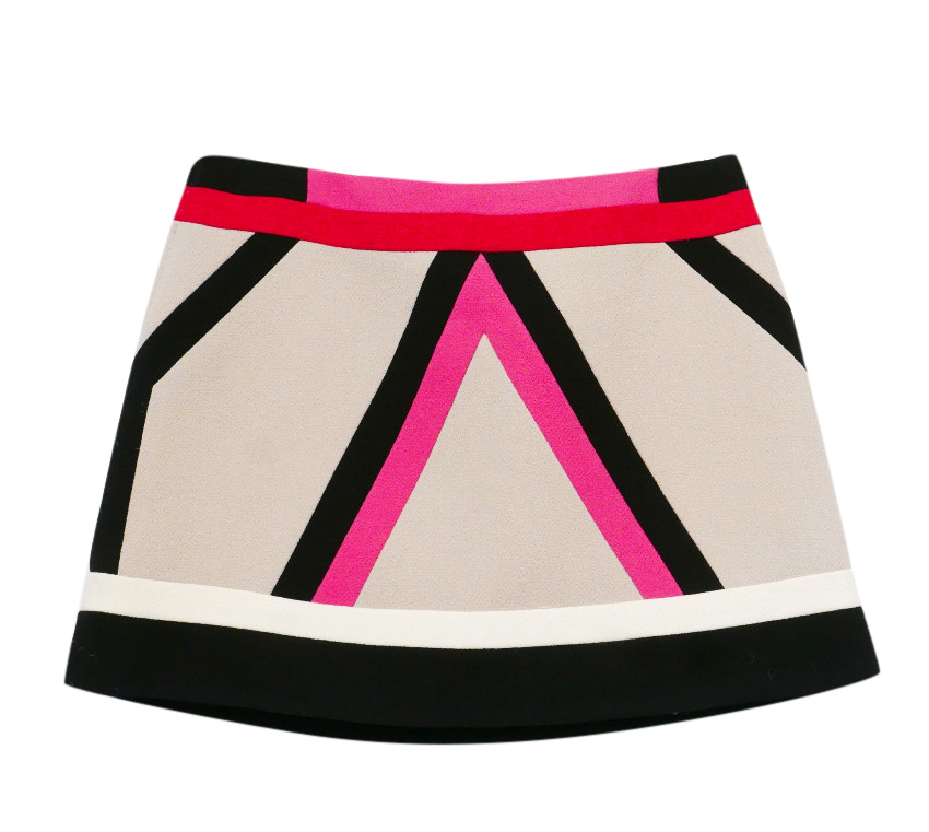 Louis Vuitton by Marc Jacobs Printed Wool Crepe Mini Skirt