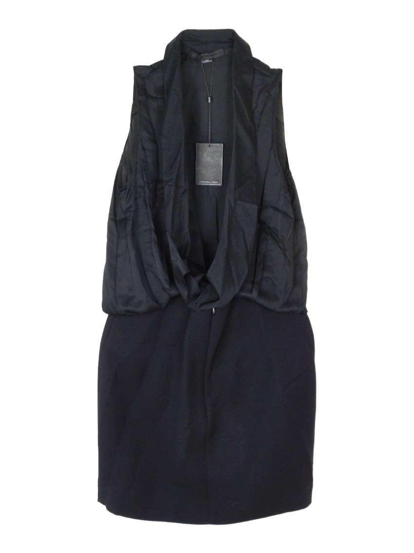 Alexander Wang Black Open Front Sleeveless Dress