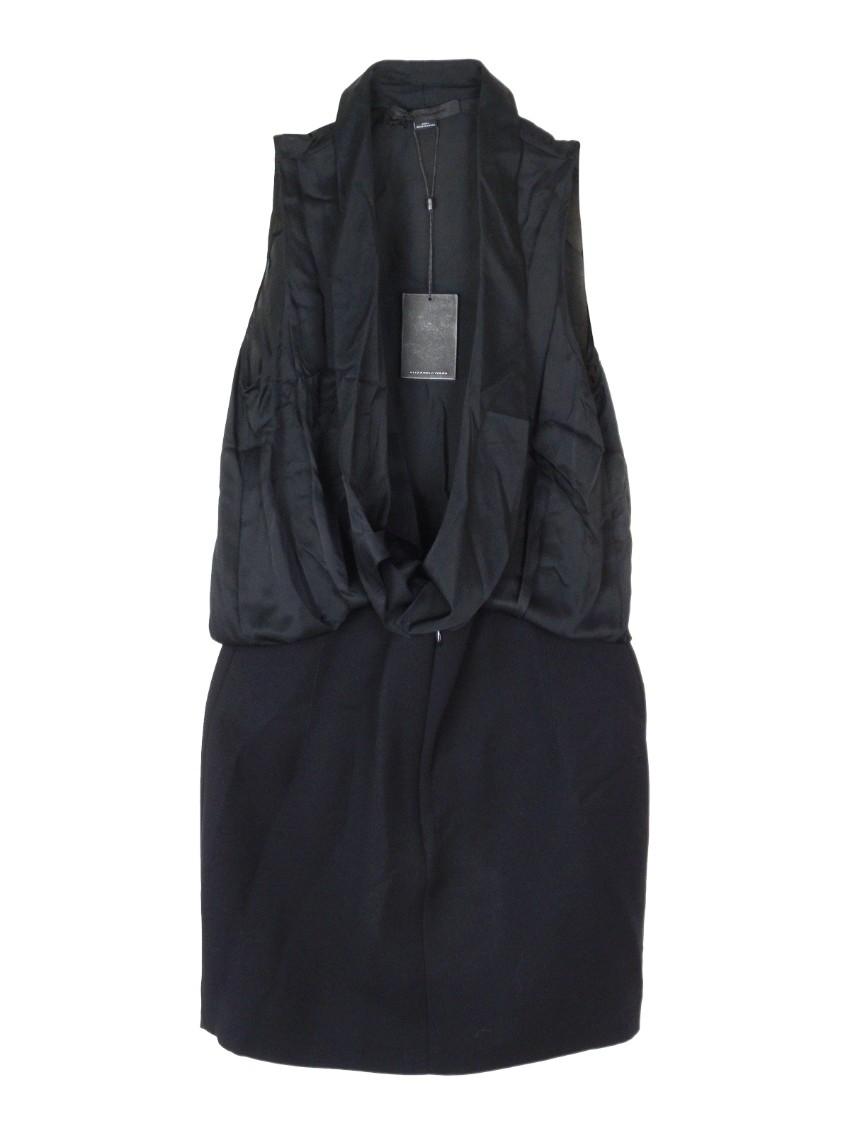 Alexander Wang Black Open Front Sleeveless Dress