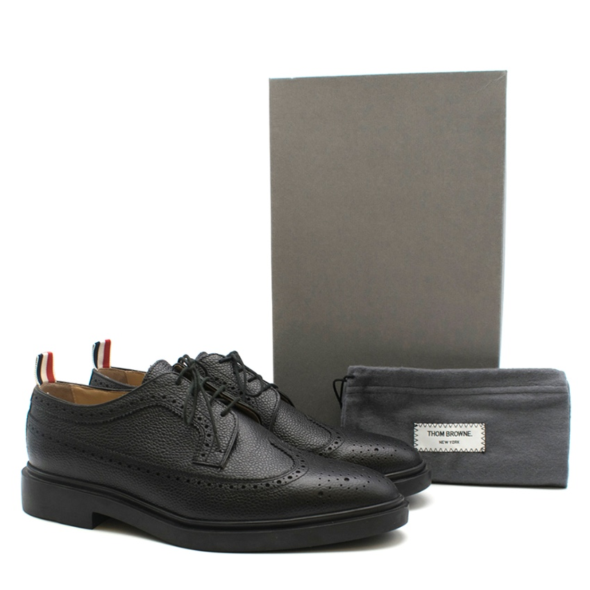 Thom Browne Classic Longwing Leather Brogues - Current