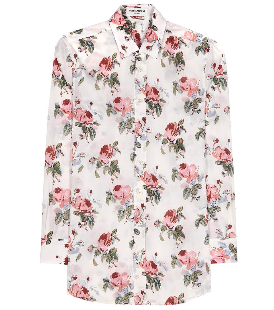 Saint Laurent Grunge Rose Print Shirt
