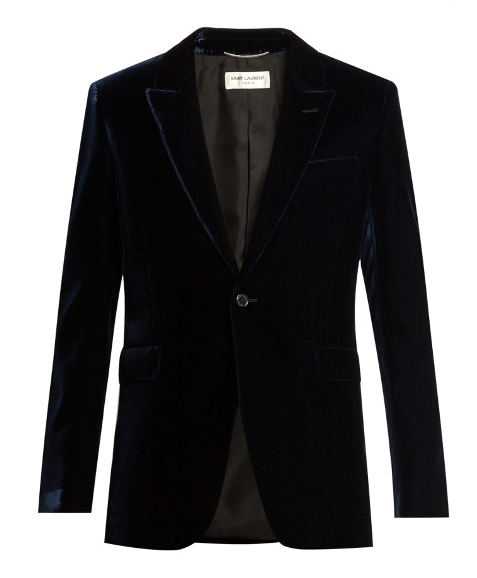 Saint Laurent Black Velvet Blazer