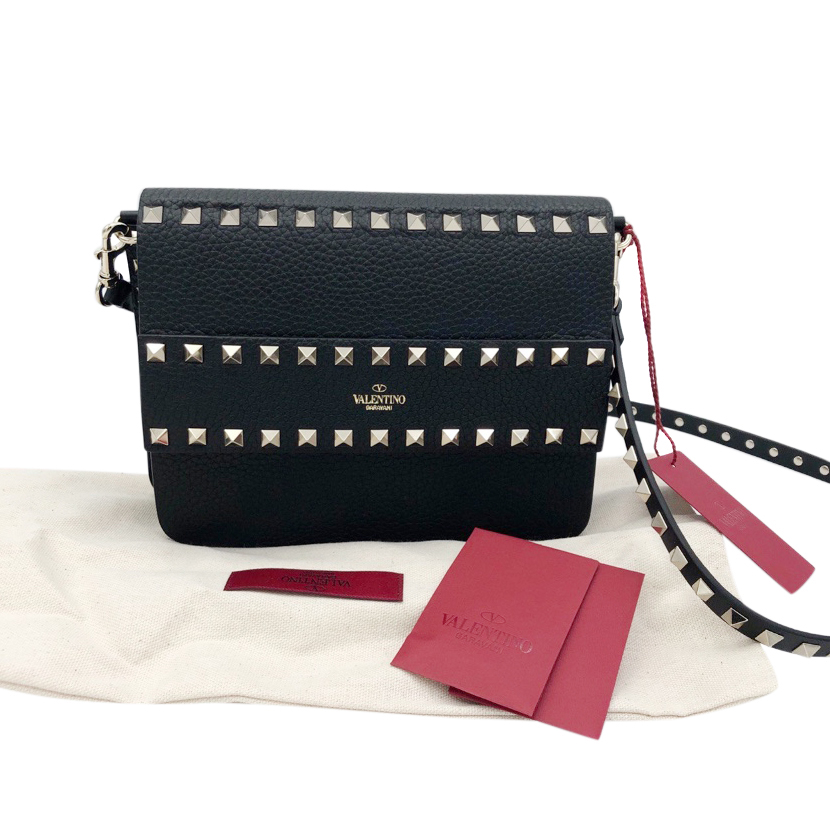 Valentino small black rockstud cross body bag 2020