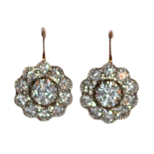 Bespoke VIntage Diamond Handmade Earrings