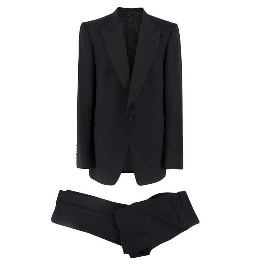 Tom Ford Black Wool & Mohair Blend Suit