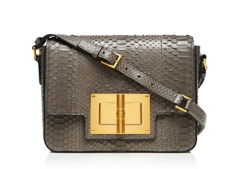 Tom Ford Natalia Medium Day Python Shoulder Bag