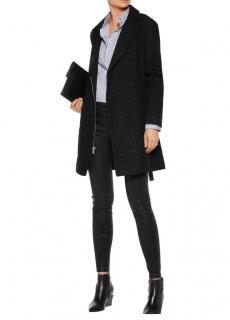 RtA black Agnes leopard print coat
