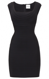 Herve Leger Elene Novelty Essentials Bandage Dress