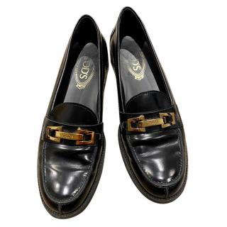 Tod's Black Chunky Loafers