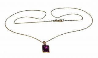 Bespoke Gold Alexandrite Pendant Necklace