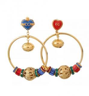 Dolce & Gabbana Sicily hearts hoop earrings
