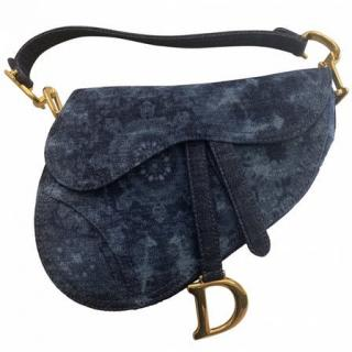 Dior Kaleidiorscopic Denim Saddle Bag