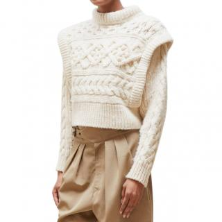 Isabel Marant Milane cable-knit merino-wool sweater