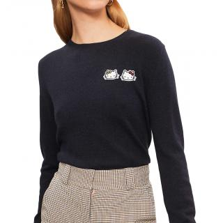 Chinti & Parker x Hello Kitty Badge-motif cashmere jumper