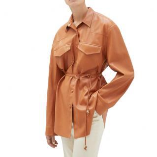Nanushka resort '20 eddy vegan leather shirt