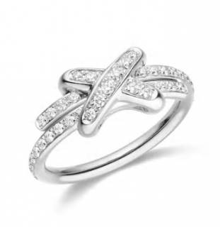 Chaumet 18ct White Gold Jeux De Liens Diamond Ring