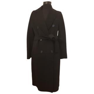 S'Max Mara Black Wool Wrap Coat