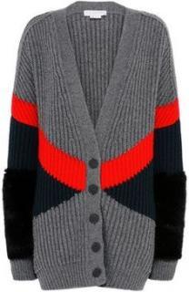 Stella McCartney Fur Free Fur Ribbed knit Oversize Cardigan