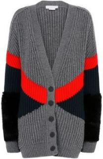 Stella McCartney Fur Free Fur Ribbed knit Oversize Cardigan