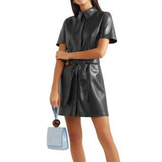 Nanushka Roberta belted vegan leather mini dress