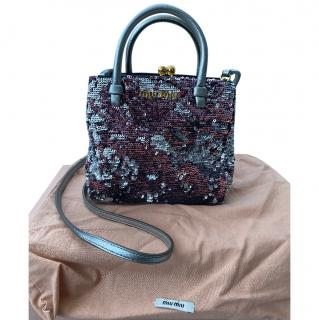 Miu Miu Sequin Embellished Micro Crossbody Bag