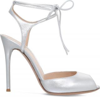Gianvito Rossi Muse Metallic-leather Sandals