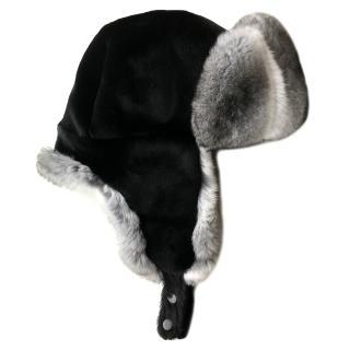 FurbySD Chinchilla Fur Trapper Hat