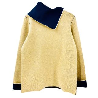 Celine Asymmetric Roll Neck Sweater