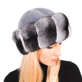 FurbySD Chinchilla Fur Cashmere Hat