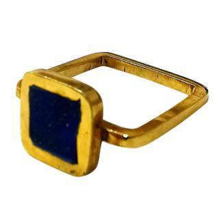 Pippa Small Lapis Lazuli Square Ring