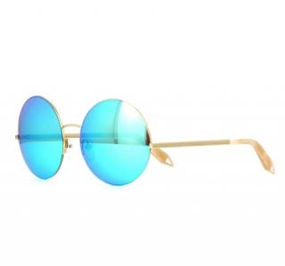 Victoria Beckham Supra Round VBS95 C10 Sky Mirror Sunglasses