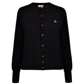 Vivienne Westwood Black Orb Embroidered Cardigan