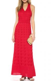 M Missoni Red Knit Maxi Dress