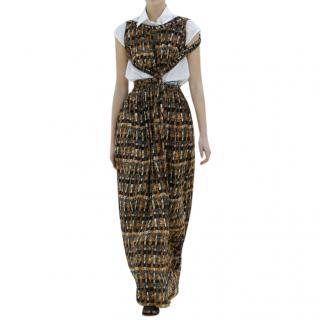 Celine Floral SS17 Cut-Out Maxi Dress